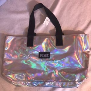 Holographic PINK bag